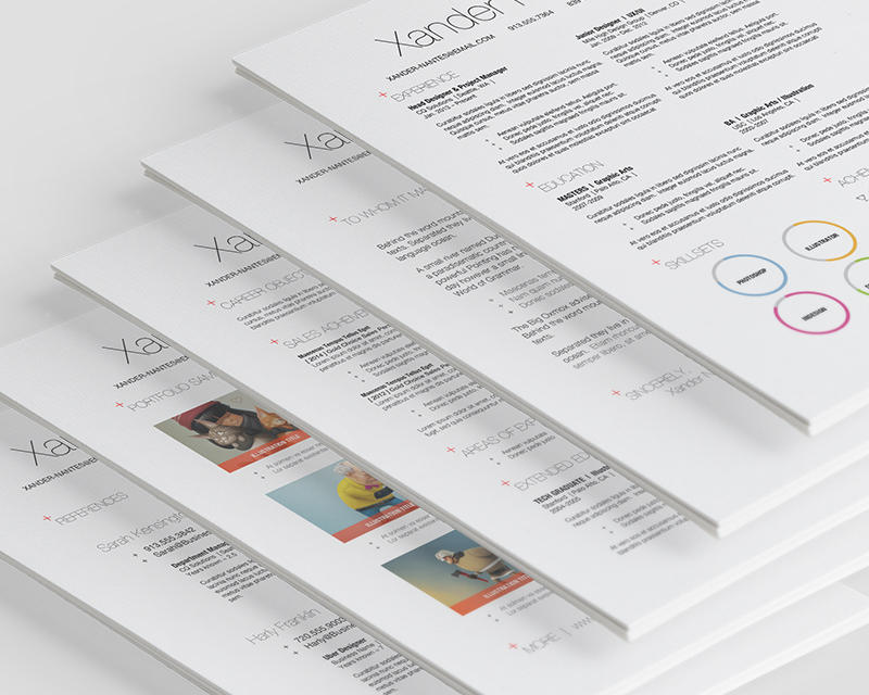 Modern Multi Page Resume Design Up To 5 Pages By Cursiveq On