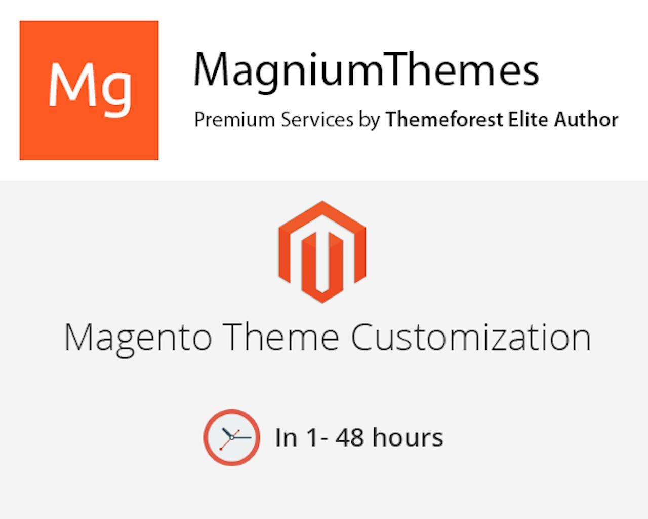 Premium Magento Theme Customization (colors, features, layouts, etc) by Elite Author Team by dedalx - 105775