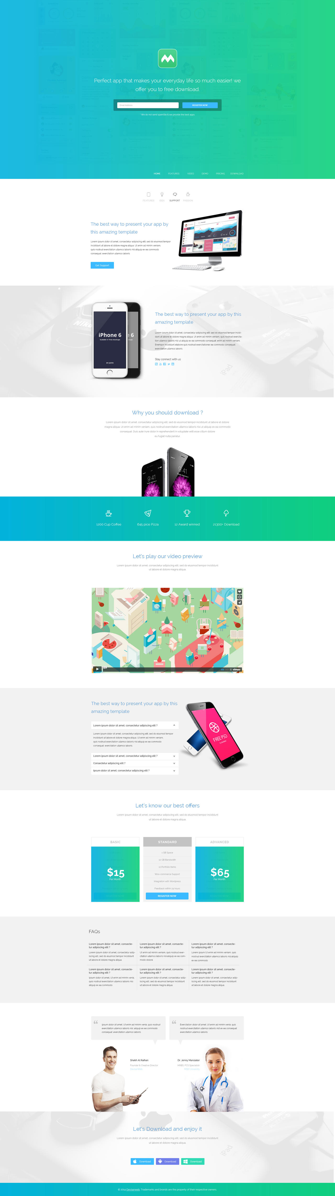 Premium Onepage Landing Page Design/Redesign by rtralrayhan - 64851