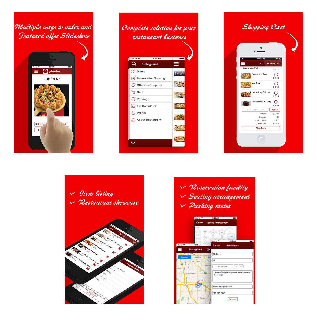 Restaurant app for ios and android by dasinfomedia on