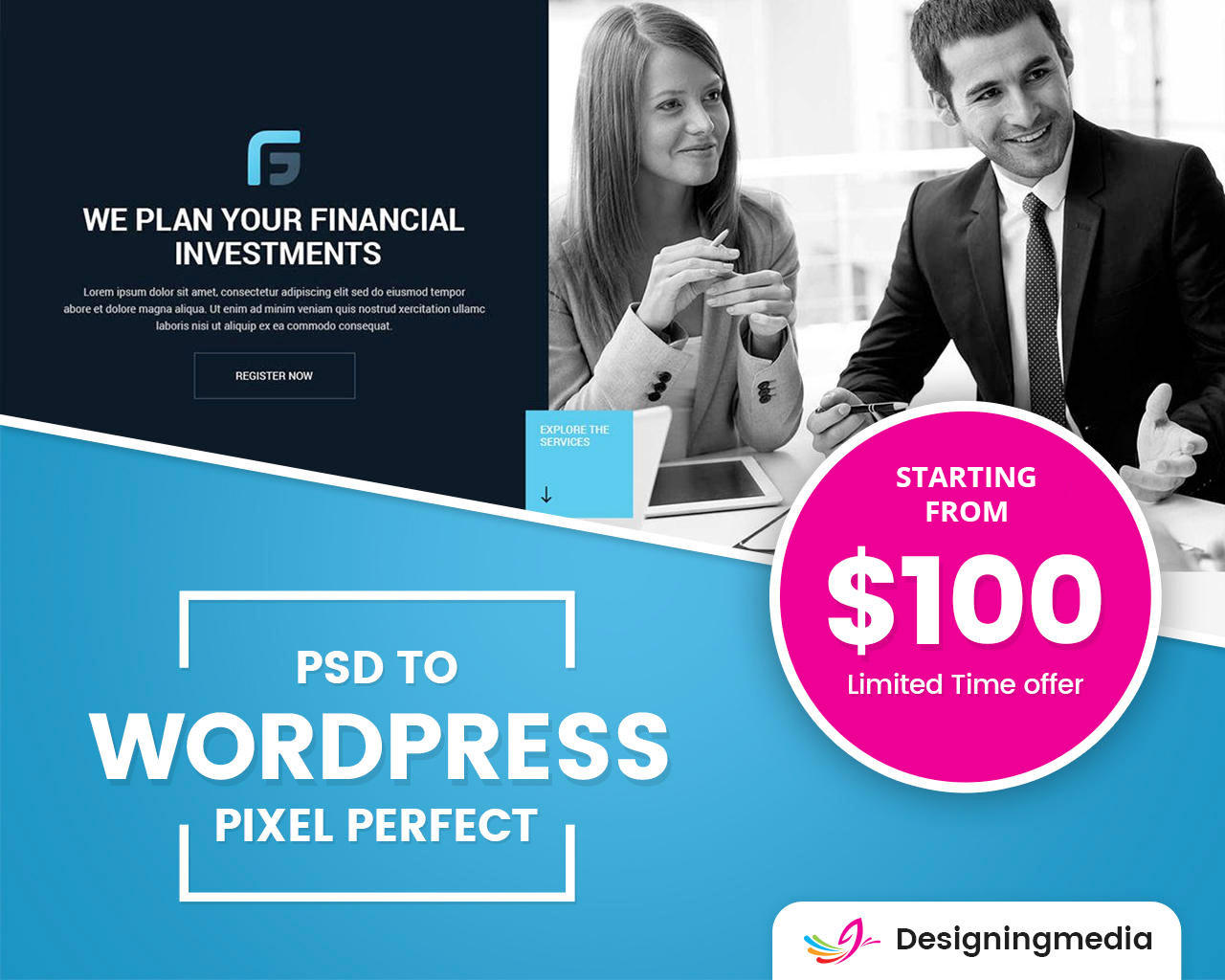 PSD to Wordpress Pixel Perfect by designingmedia - 109286