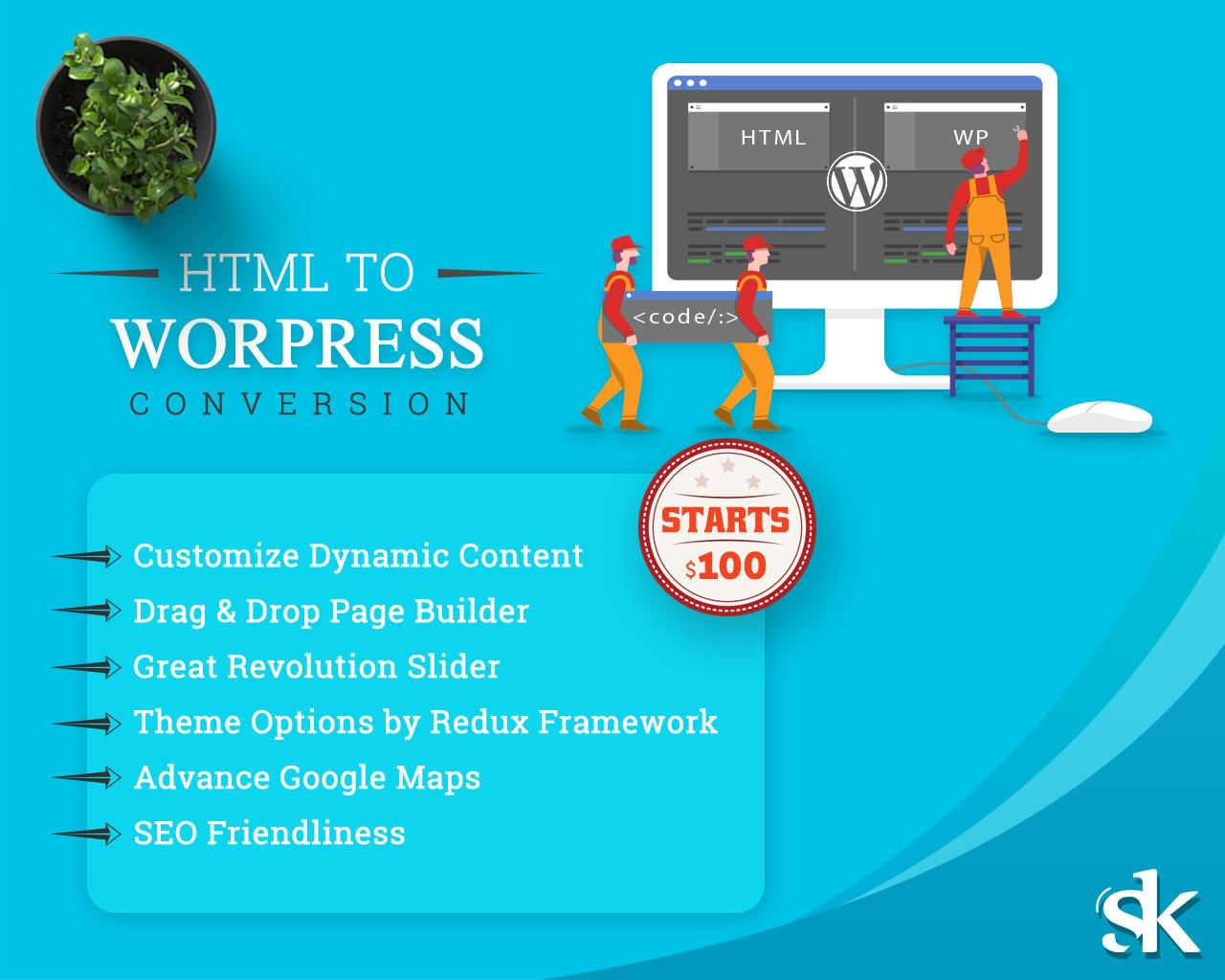 HTML to WordPress Conversion by SK-Web-Solutions - 112982