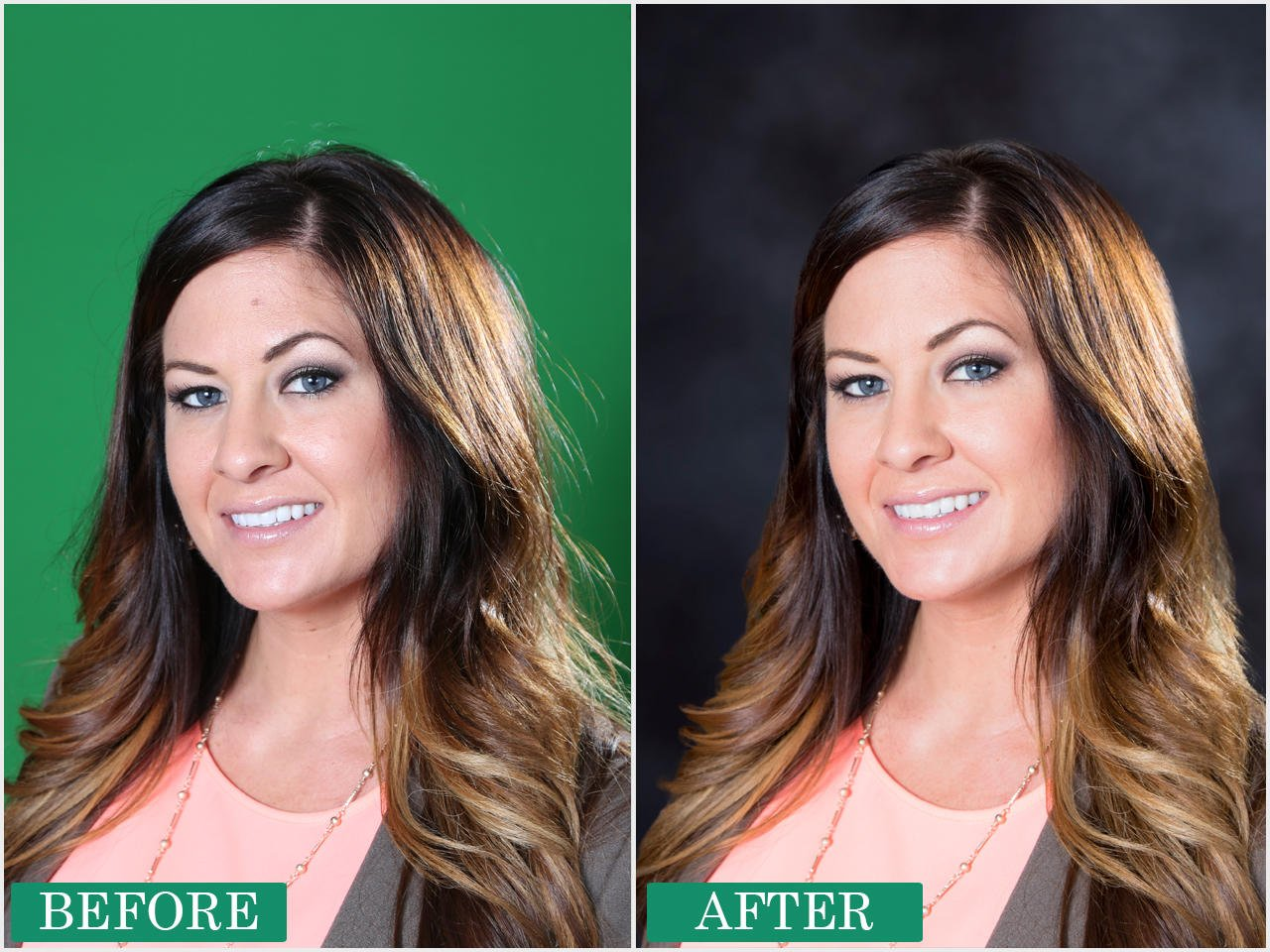 Professional Headshot Retouching with Green Screen Removal by sk619 - 12923