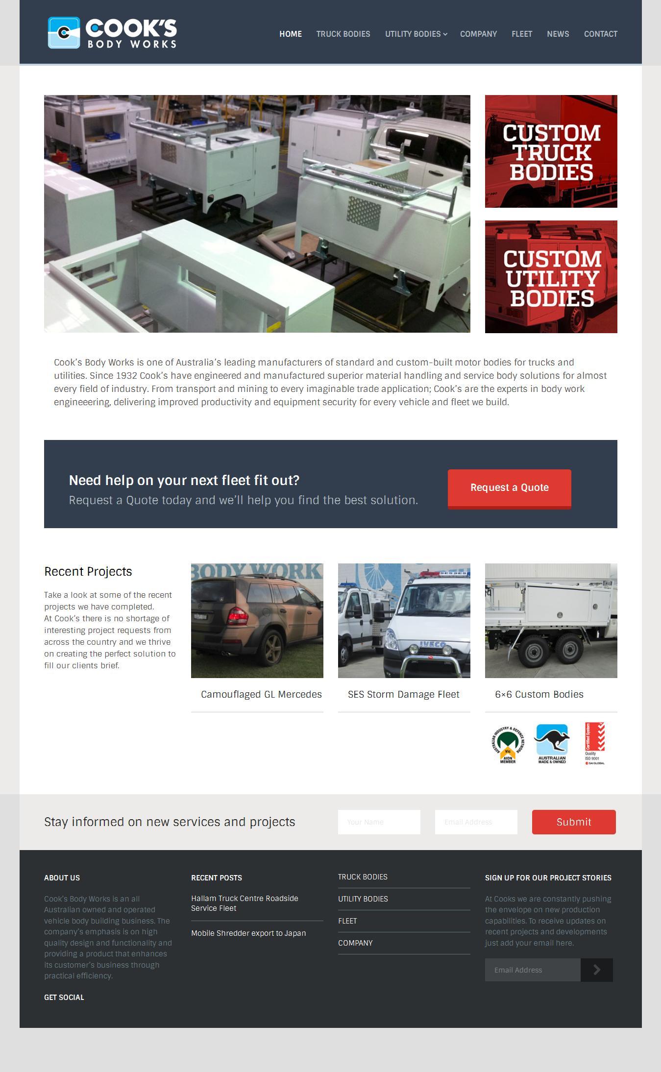 Professional Website Template Design Landing Pages