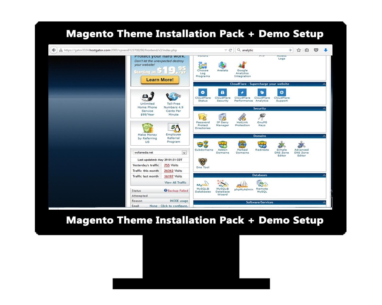 Magento Theme Installation (Include Demo Setup & Logo Setup) by AritonangWofa - 92440