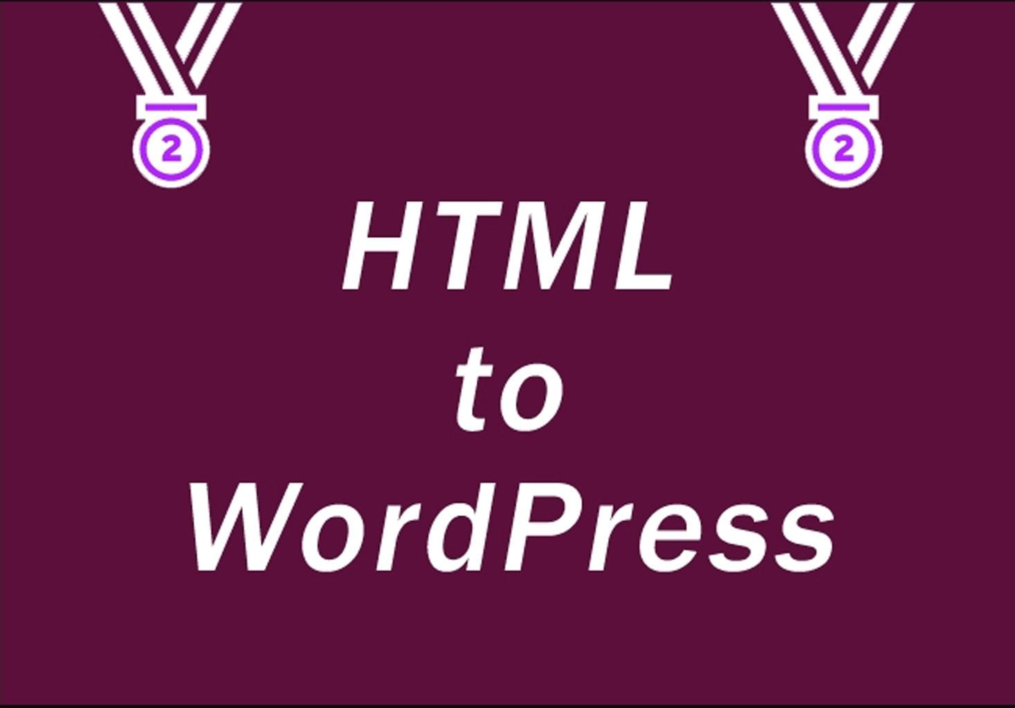 HTML Conversion to WordPress by proga100 - 112045