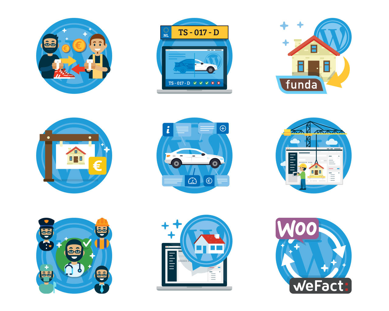 Illustrated Icon for Website by ManuDesign - 106356
