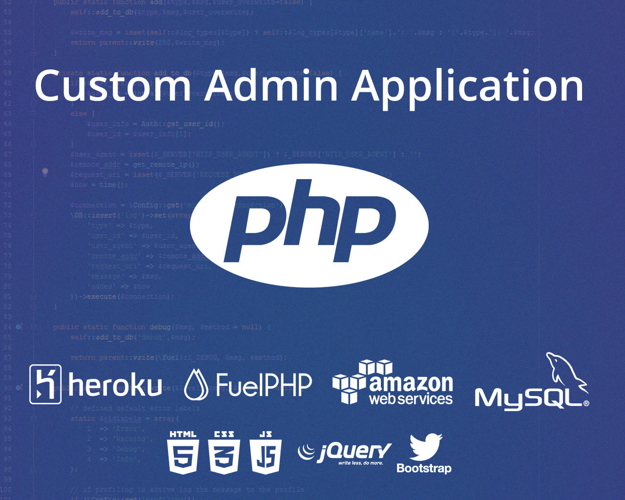 Custom Admin Application by frogjump - 106997