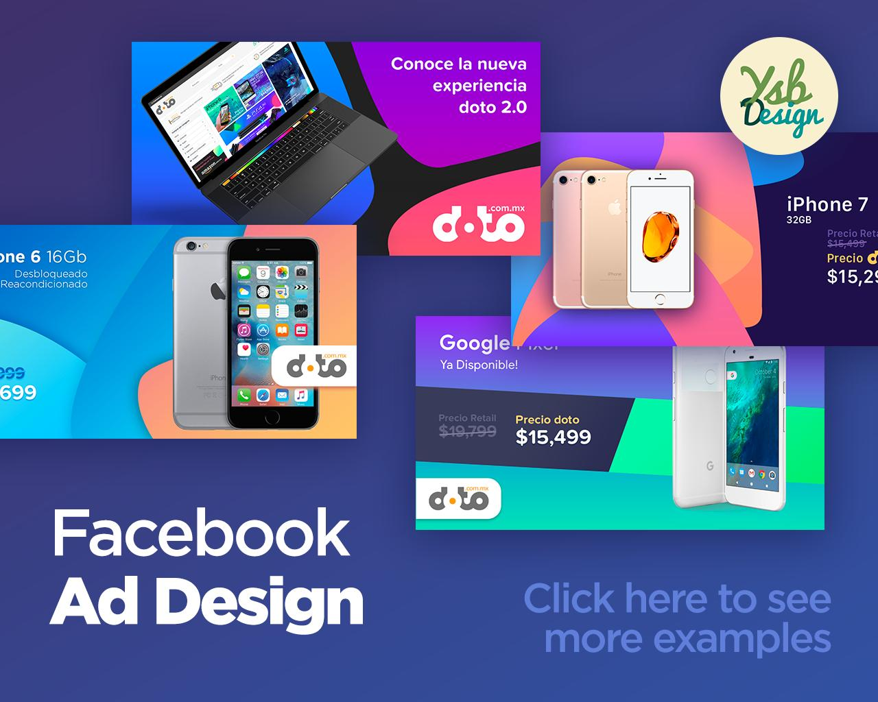 Beautiful facebook ad post banner design by ysb on envato for Ad designs