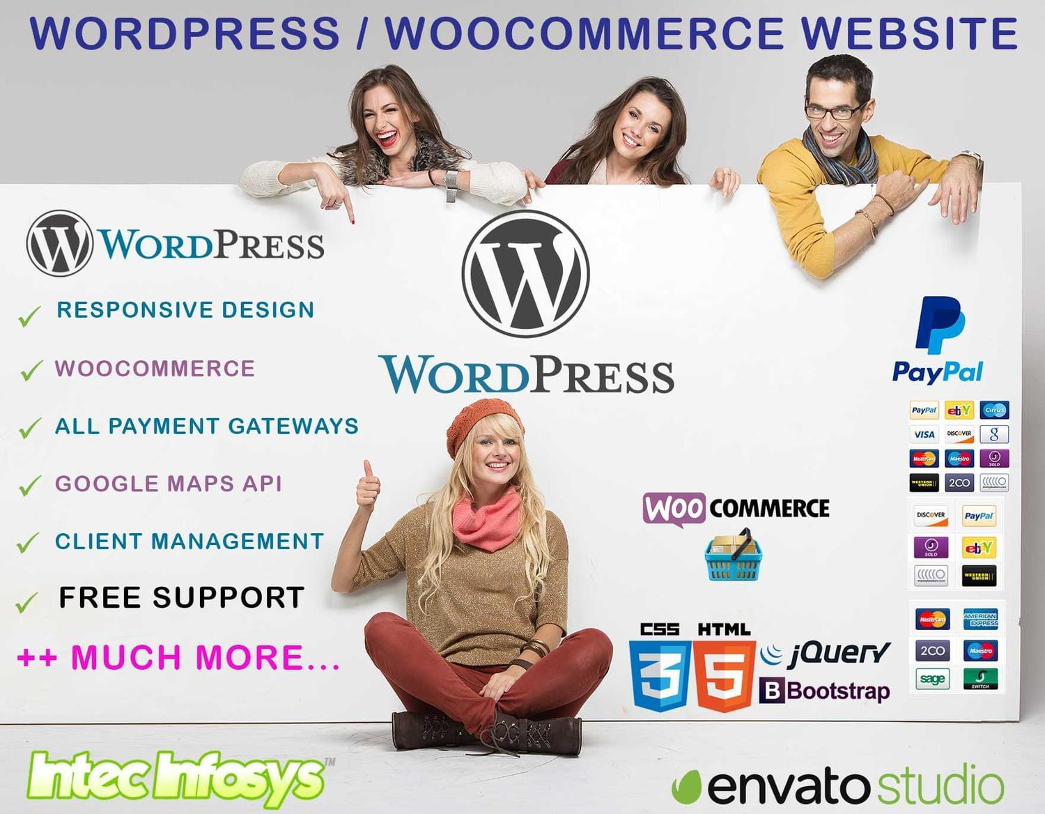 Wordpress Website Development or Customiziation by intecinfosys - 115897