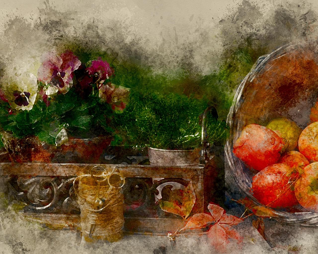 Creative Photo-Editing - High-End Artistic Effect - Watercolor Expressive Painting by CrArt - 111472