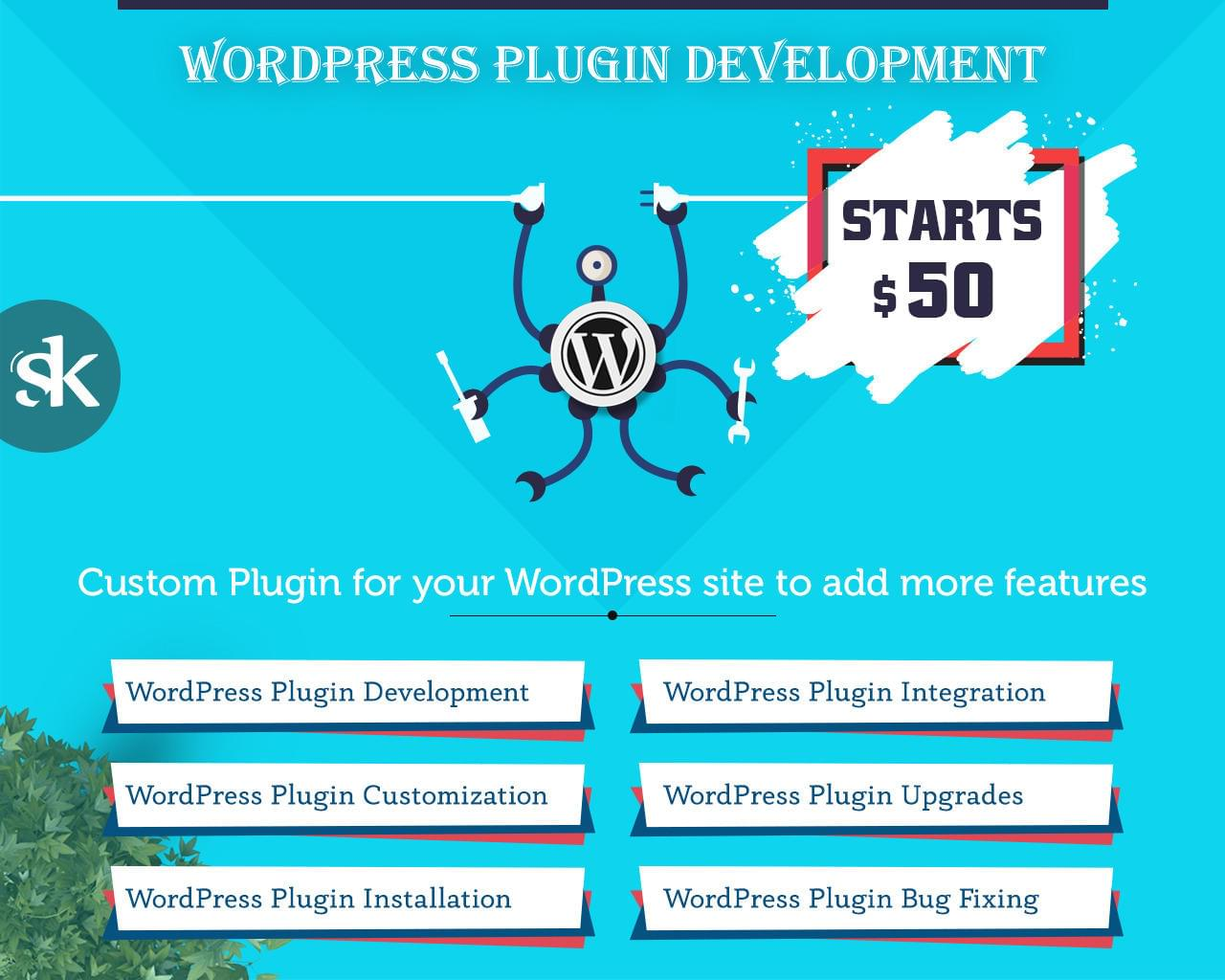WordPress Plugin Development / Customization / Installation / Integration / Bug Fixing / Upgrades by SK-Web-Solutions - 112678