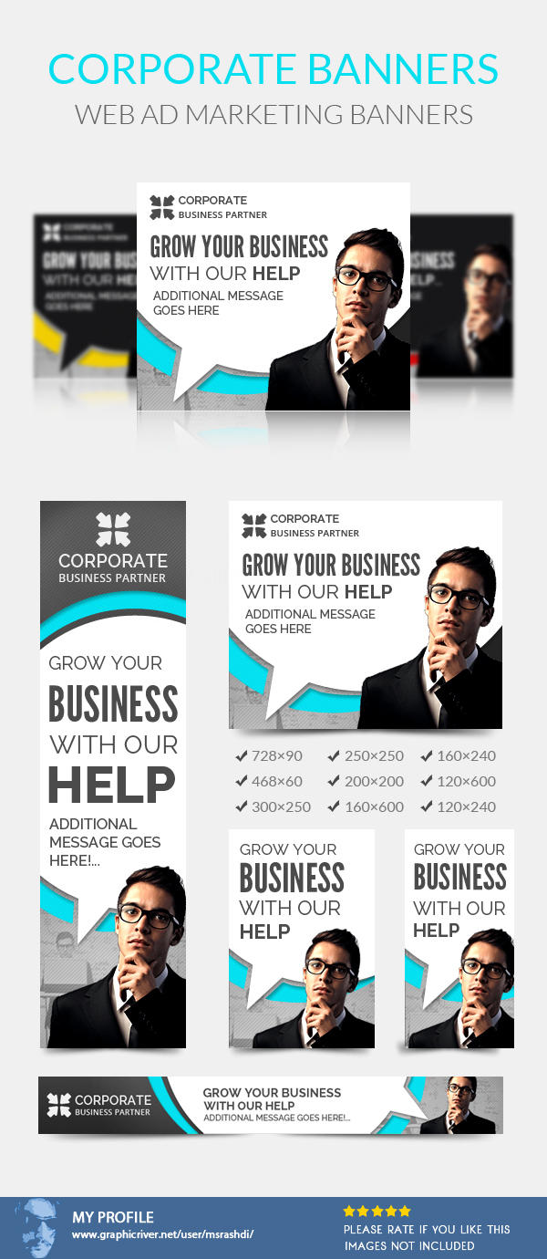 Professional Corporate Web Banner Ad Designs by msrashdi - 57579