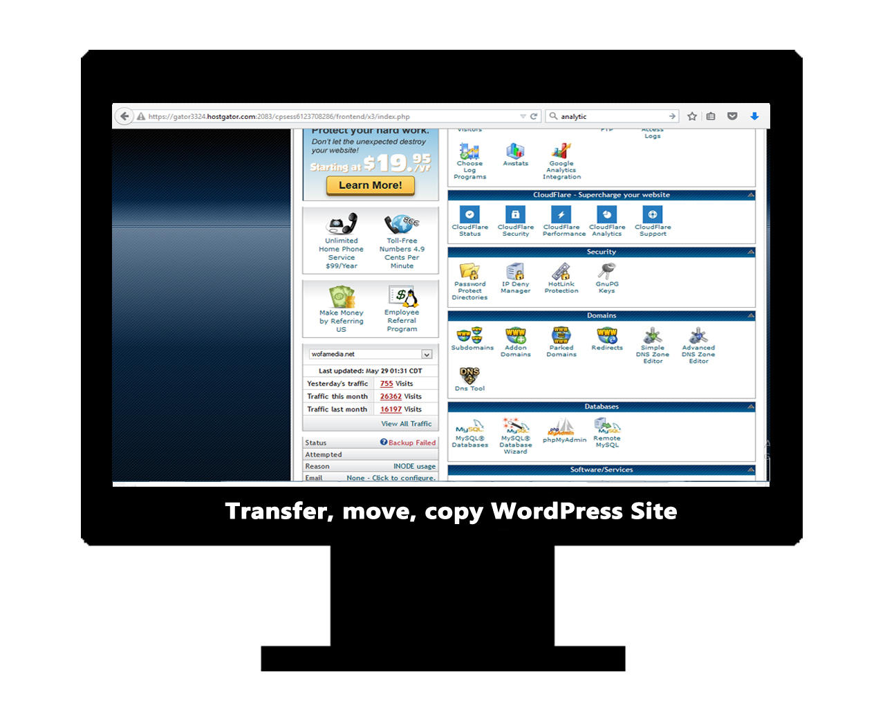 WordPress Migration / Transfer / Cloning / Move to other Domain and Hosting by WofaMedia - 79886