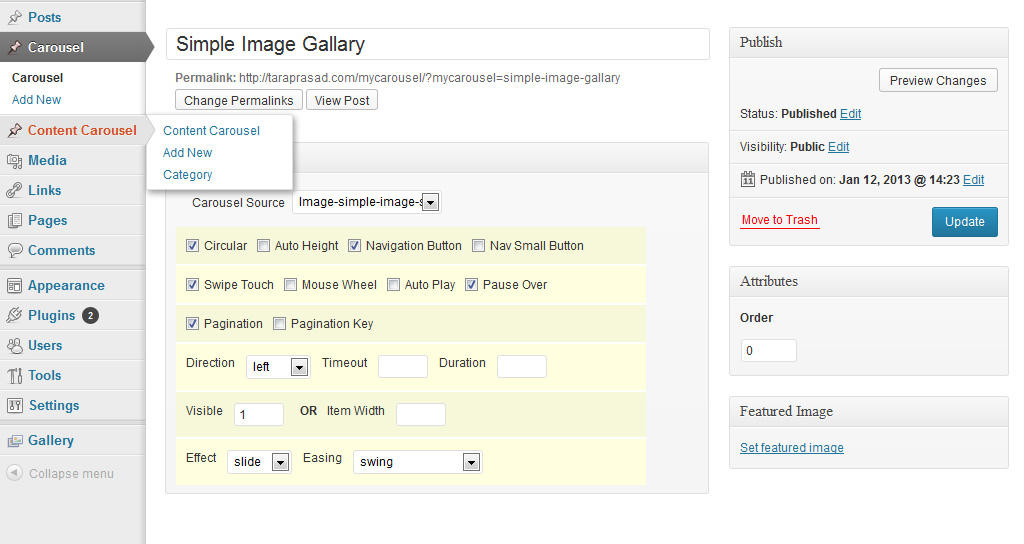 Wordpress/Jquery Plugin Customization/Development by nnt - 37942