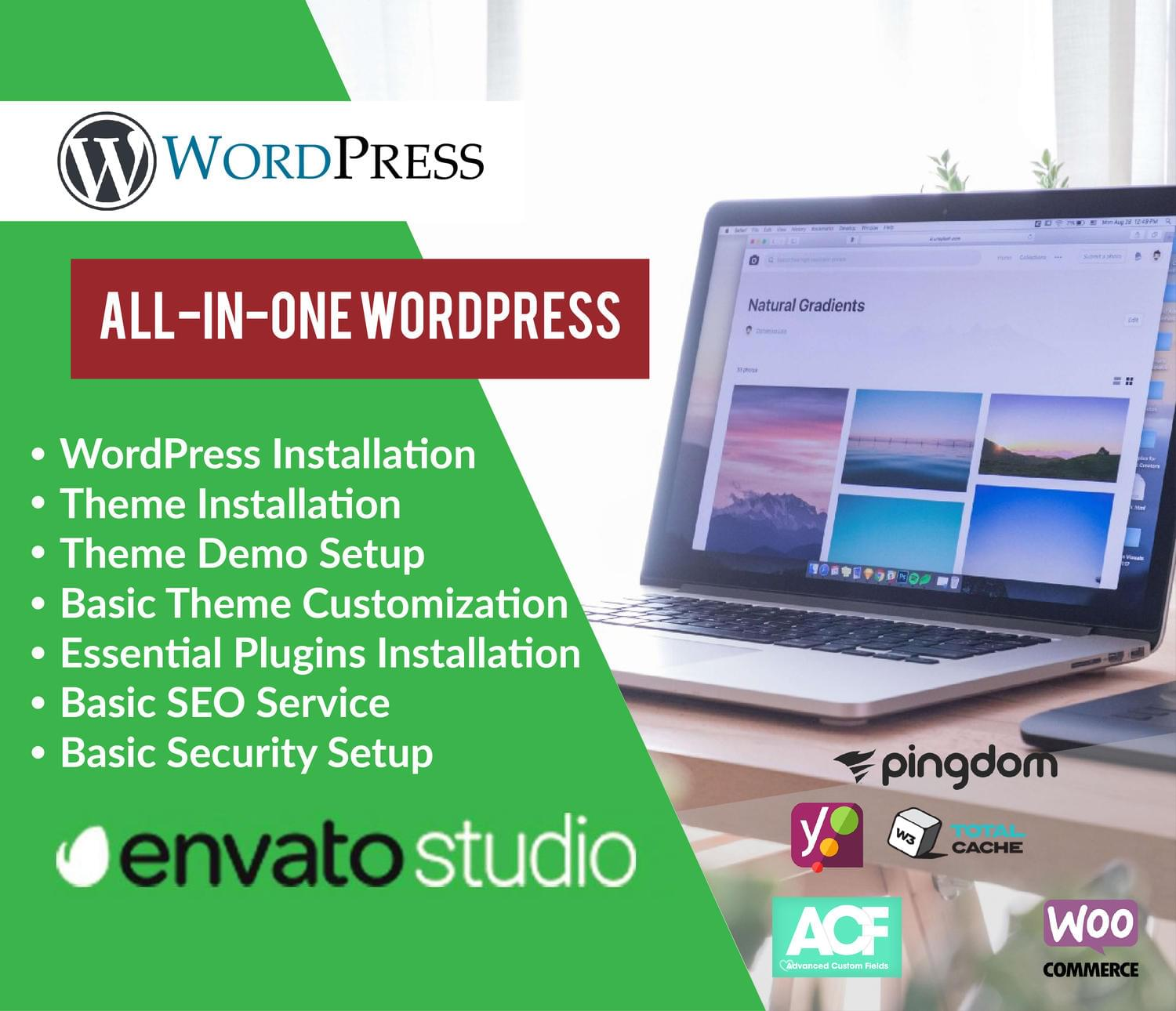 All-In-One WordPress Installation (+Demo, Logo, Customization, Security, Caching, etc) by MuhammadHaroon - 116491