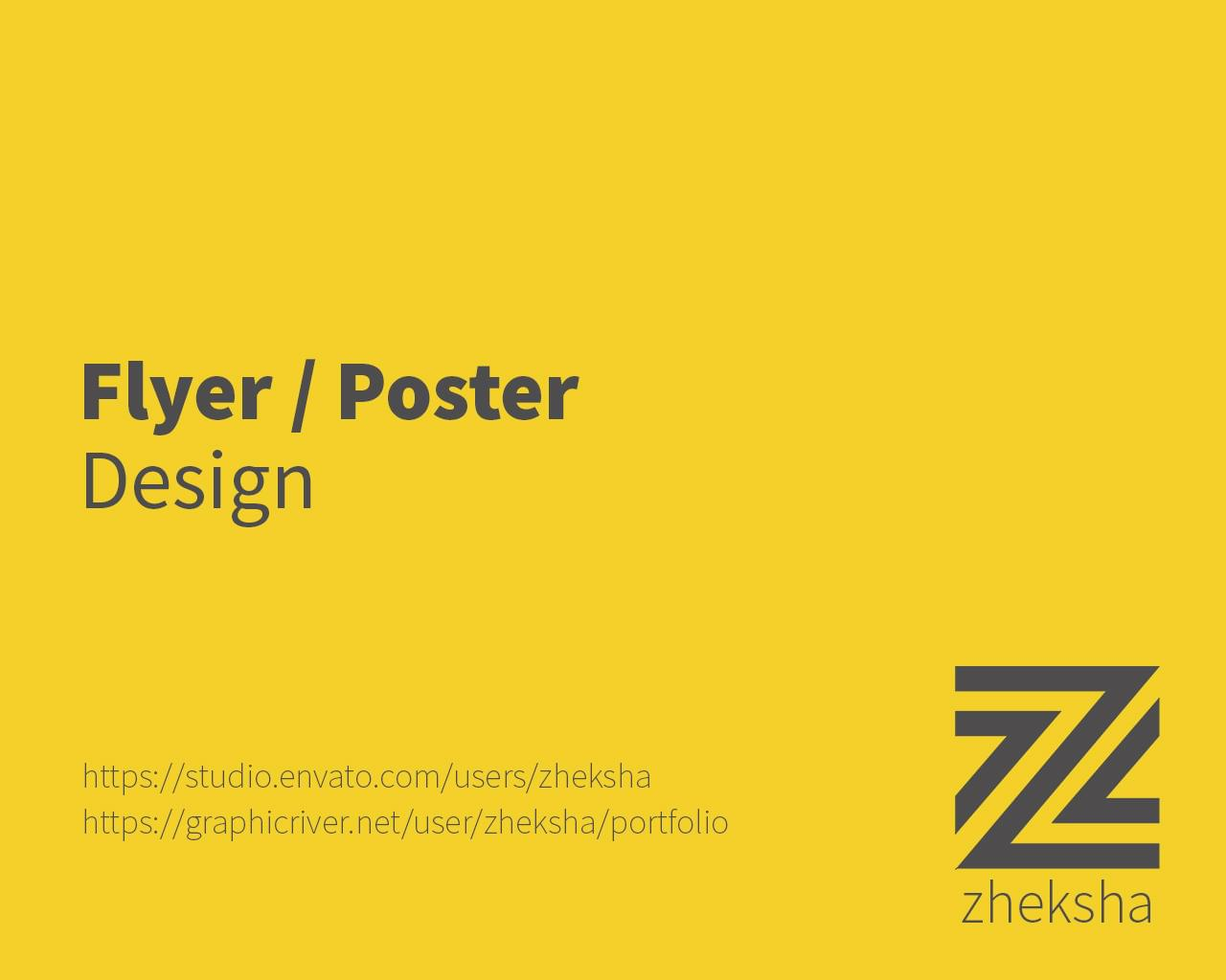 Flyer and Poster Designs by zheksha - 112464