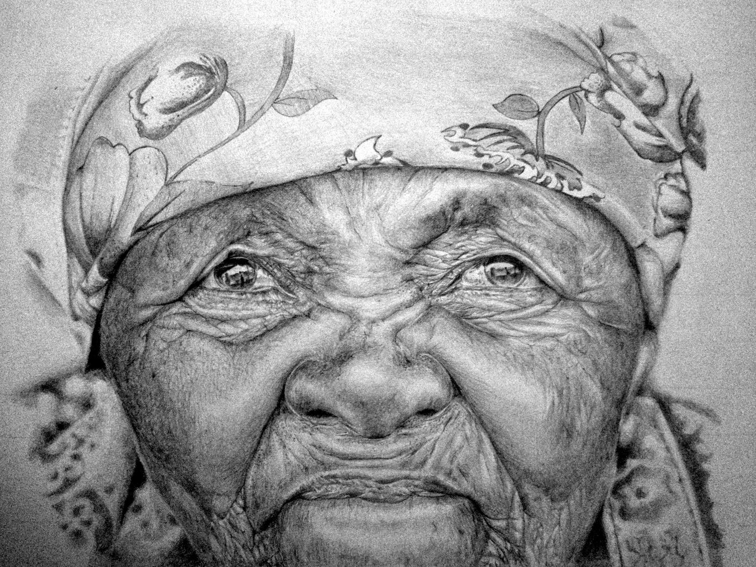 African Pencile Arts Pencil Sketch