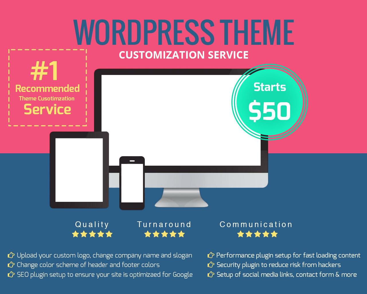 WordPress Theme Customization Service by designsvalley - 111956