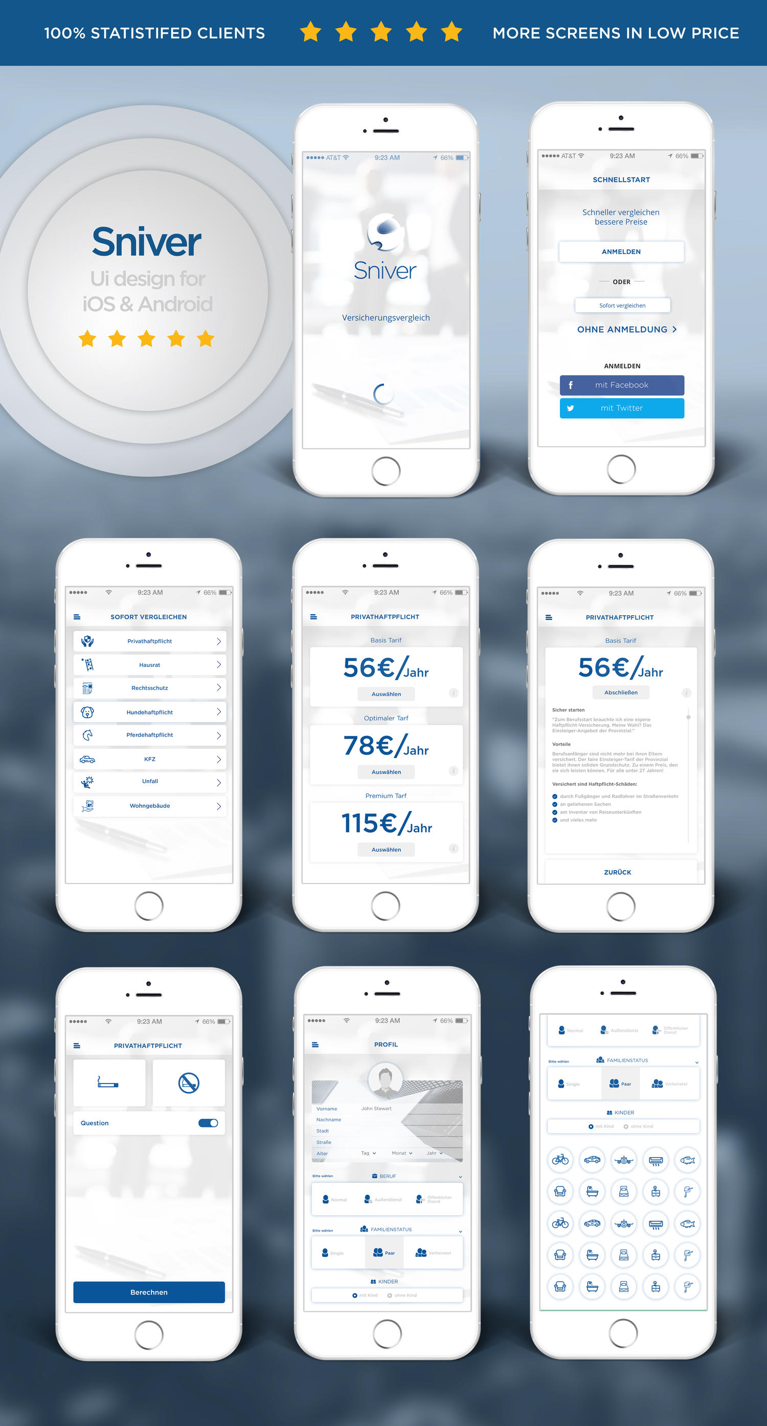 Premium Quality Mobile App Ui Design for IOS and Android by idesignera - 108424