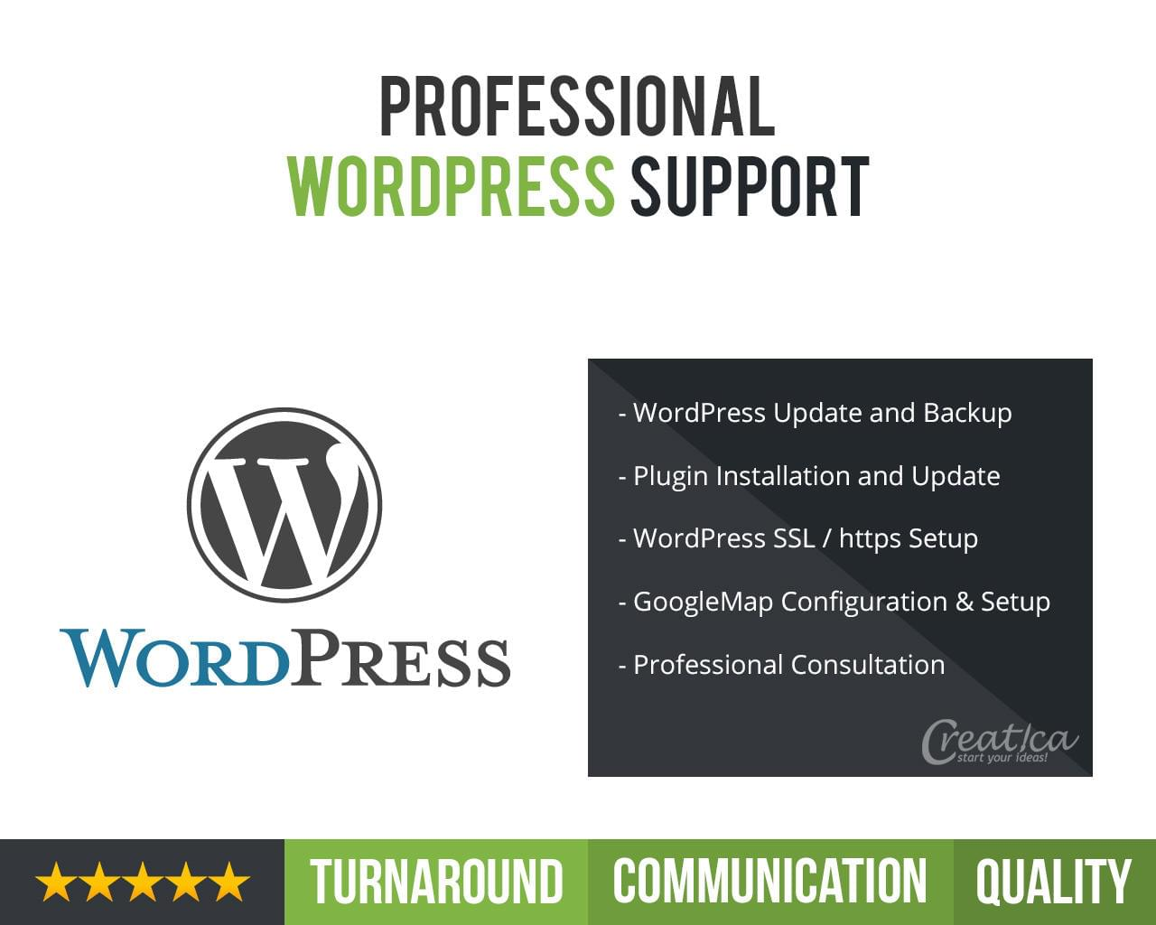 Professional Wordpress Support by CreaticaStudio - 113611