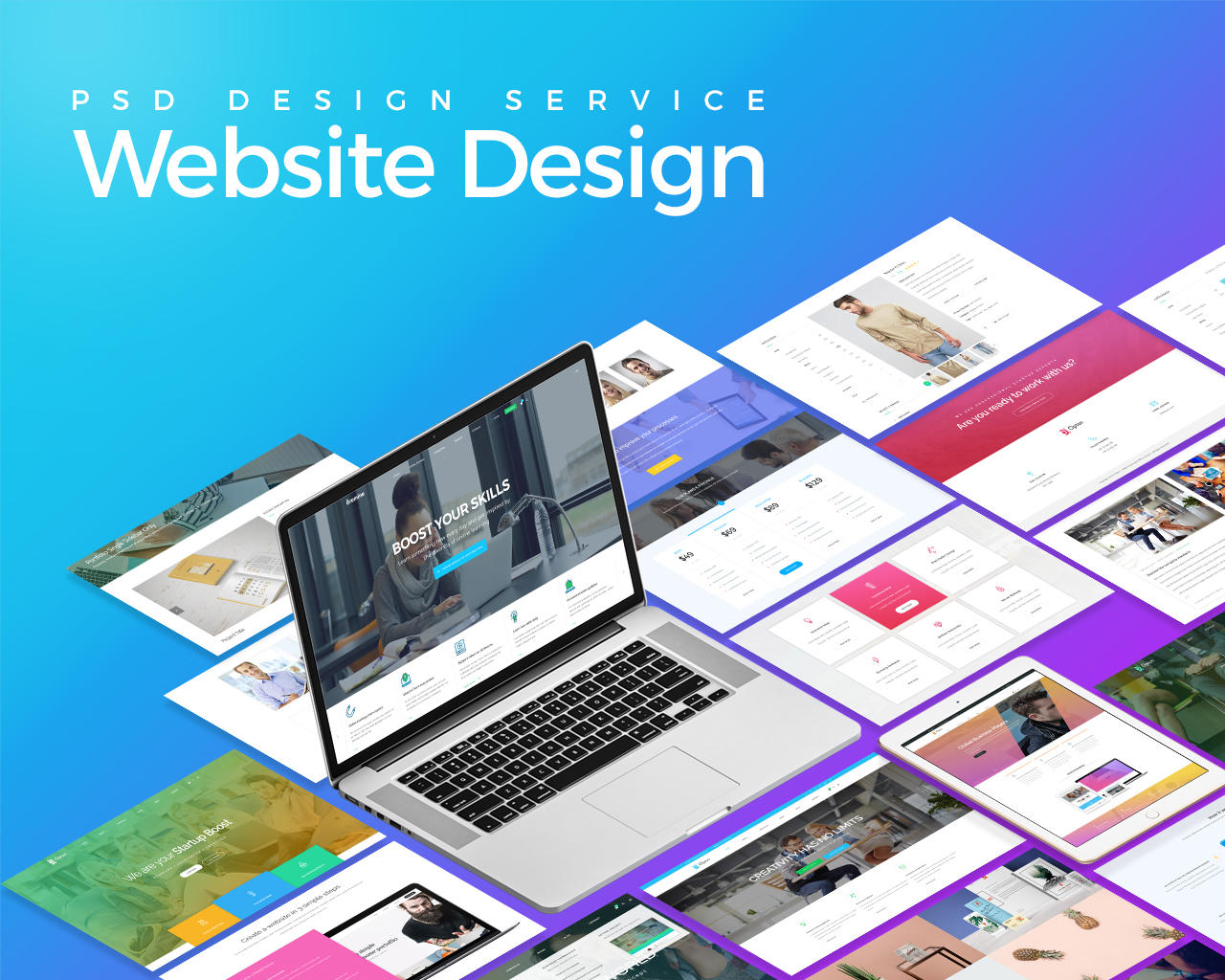 psd website design service by kl webmedia on envato studio