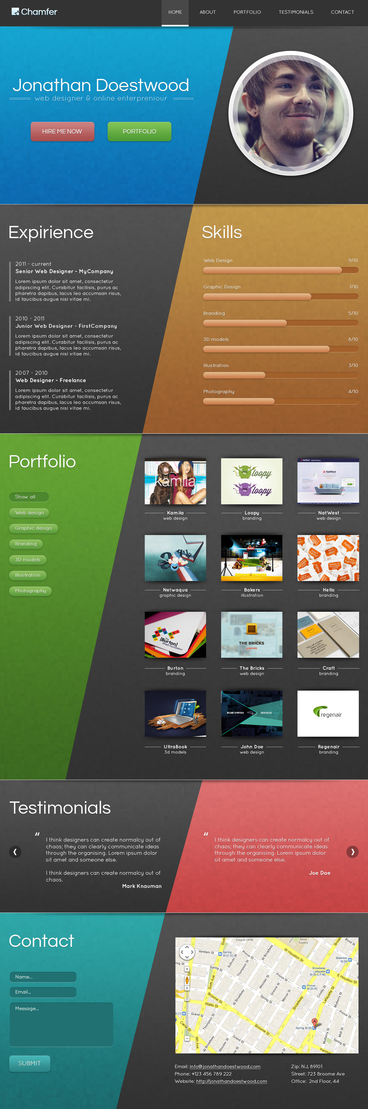 One Page Web Design by webcodebuilder - 9736