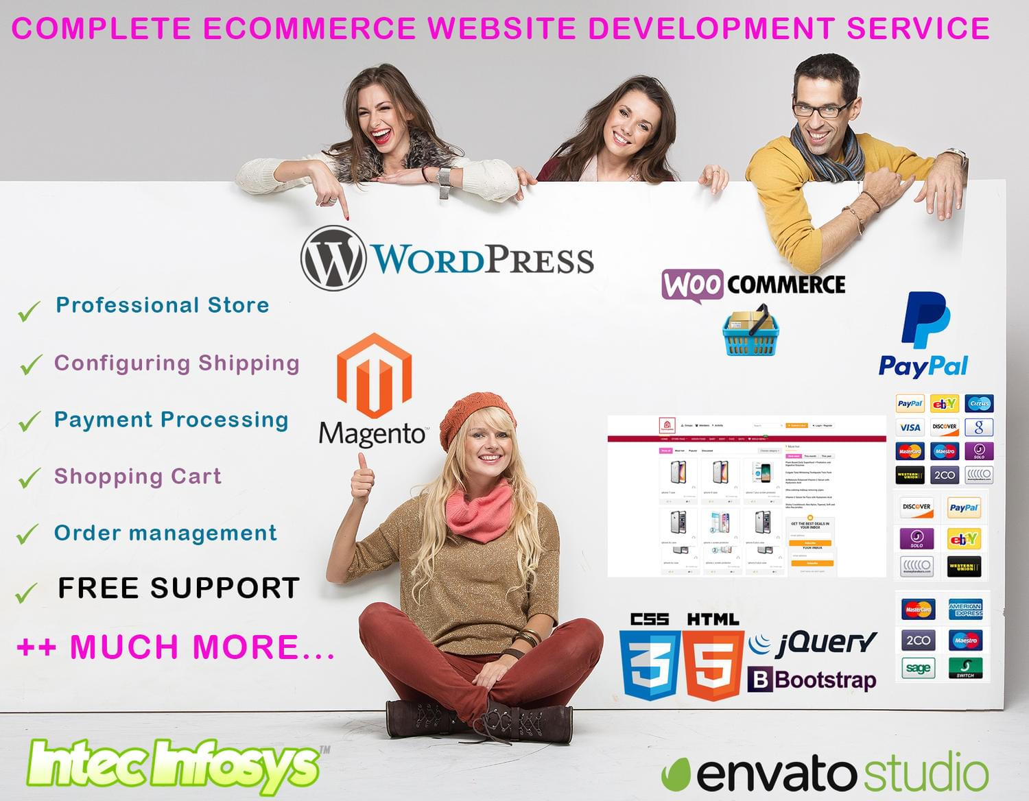 Professional eCommerce website, Magento, Woocommerce by intecinfosys - 114289