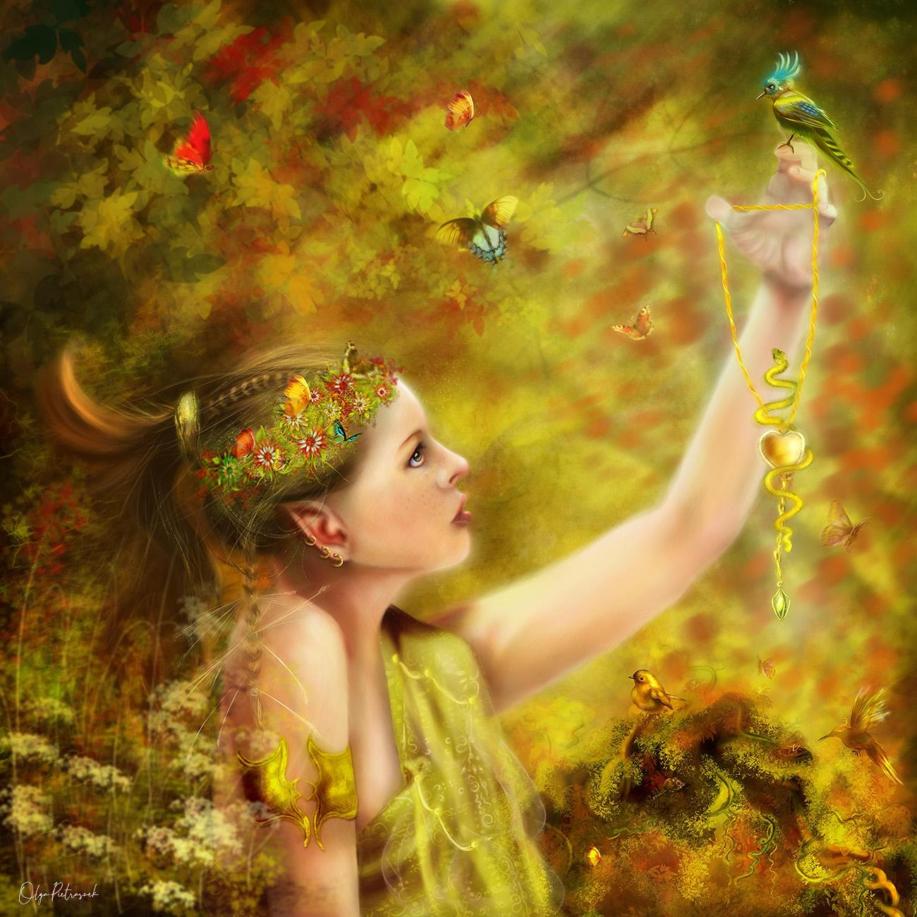 Exclusive Digital Painting - Detailed Fantasy Illustration - Digital Fine Art by CrArt - 115404