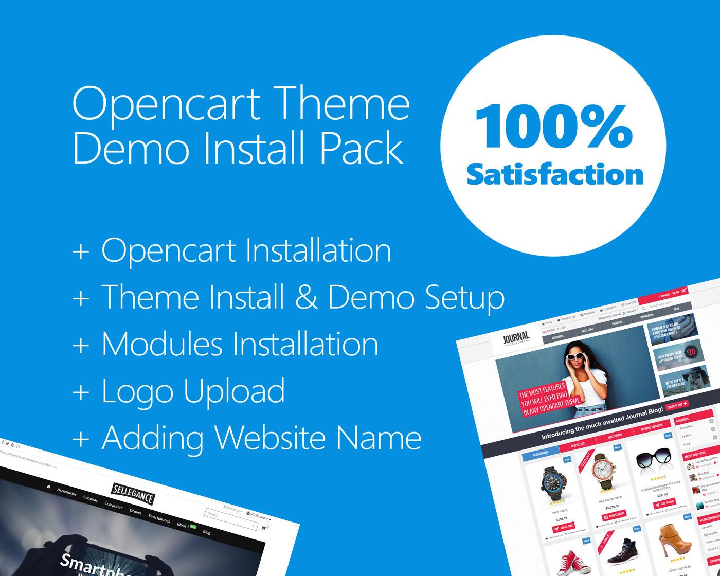 OpenCart Theme Install & Demo Setup (+ Plugin & Logo Setup) by hasanet - 109817