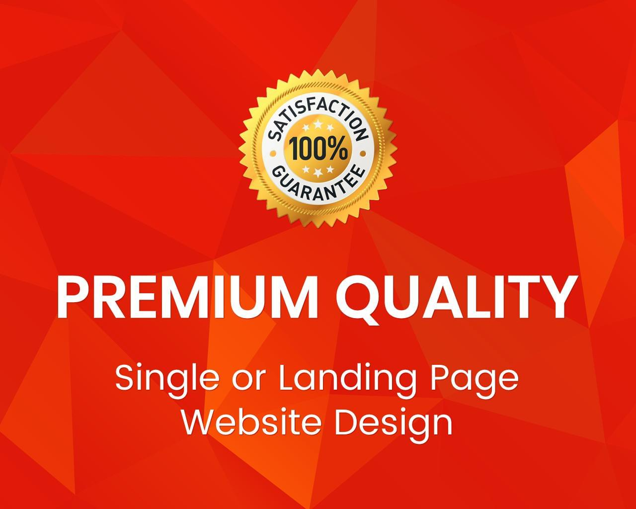 Premium Quality Single/Landing Page Website Design by uipro - 113373