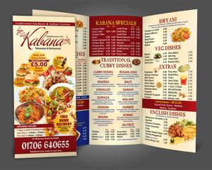 trifold menu design