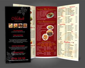 restaurant menu design a4 bi fold tri fold by fk designz on