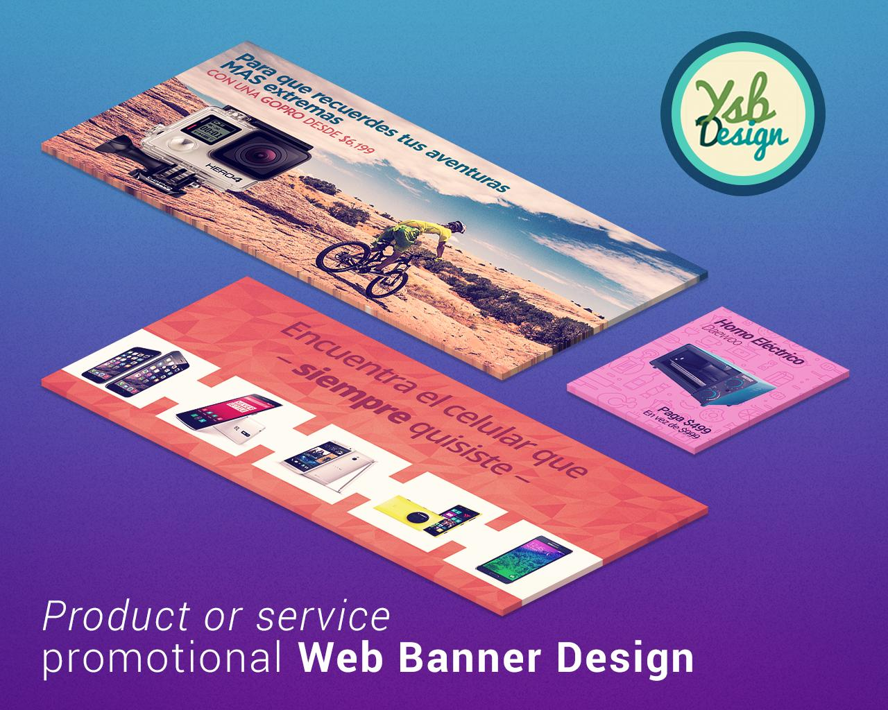 Product or Service Promotional Web Banner Design by YSB - 103259