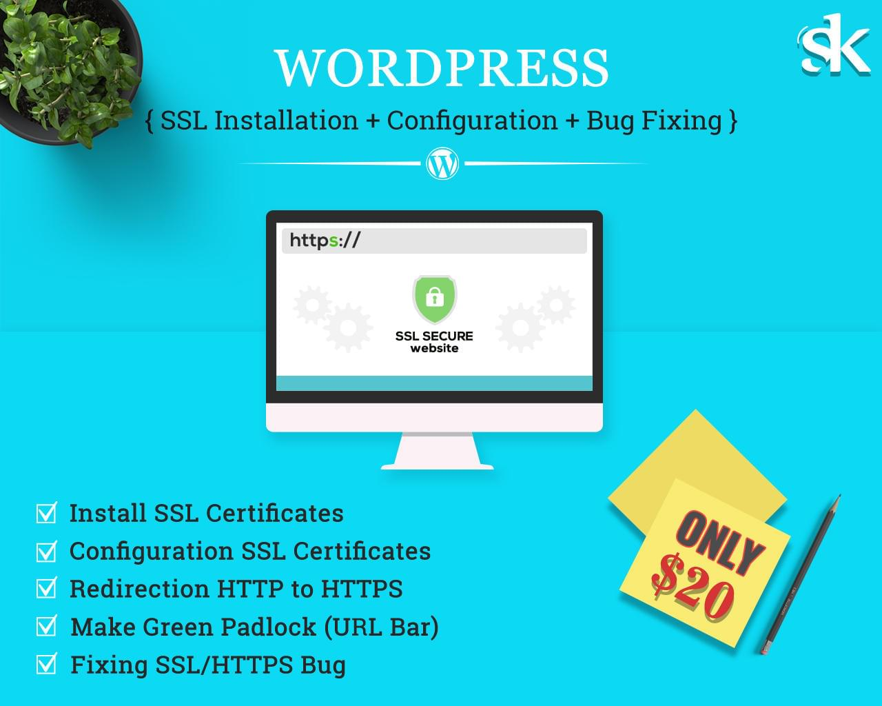 Wordpress Ssl Installation Configuration Bug Fixing By Sk Web