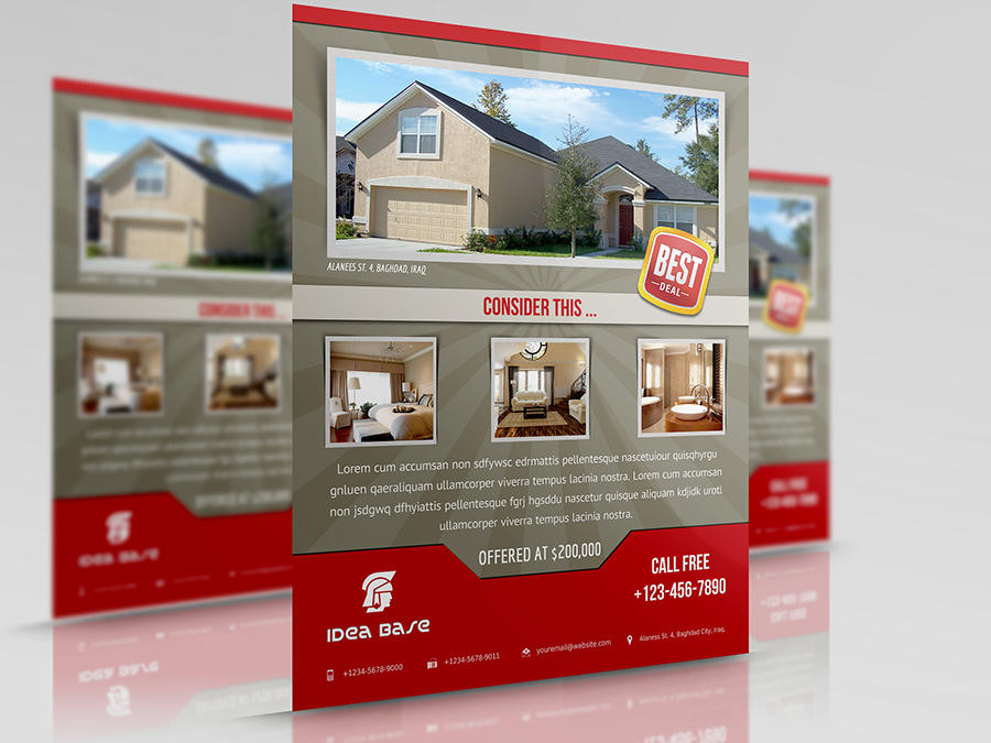 Real Estate Flyer Template By Owpictures 35764