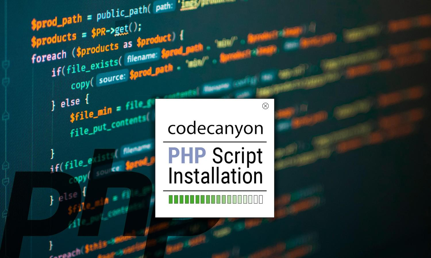Codecanyon PHP Script Installation by madridnyc - 111652