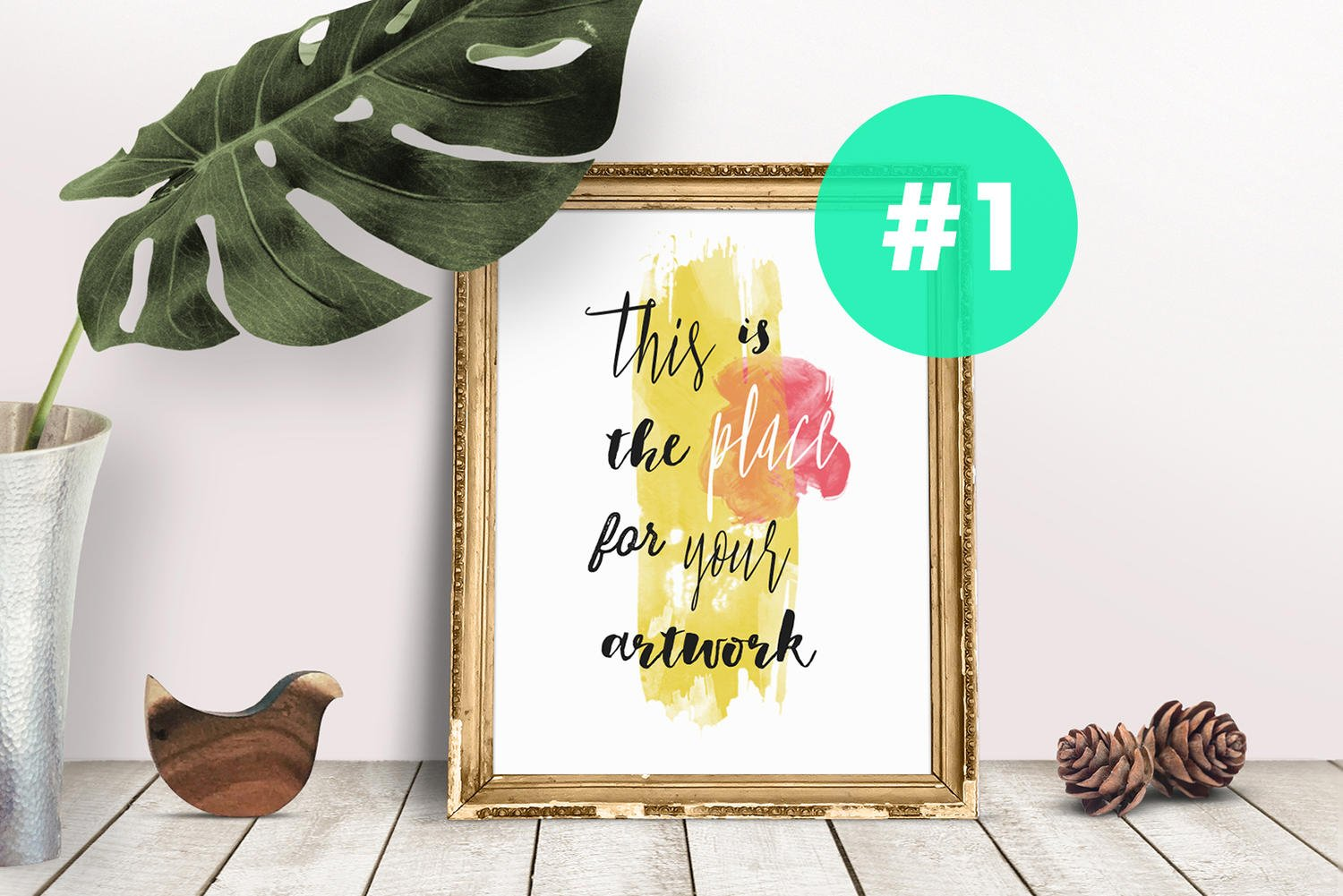 Your Print Inside Fully Editable Framed .psd Mockup by friskweb - 96525