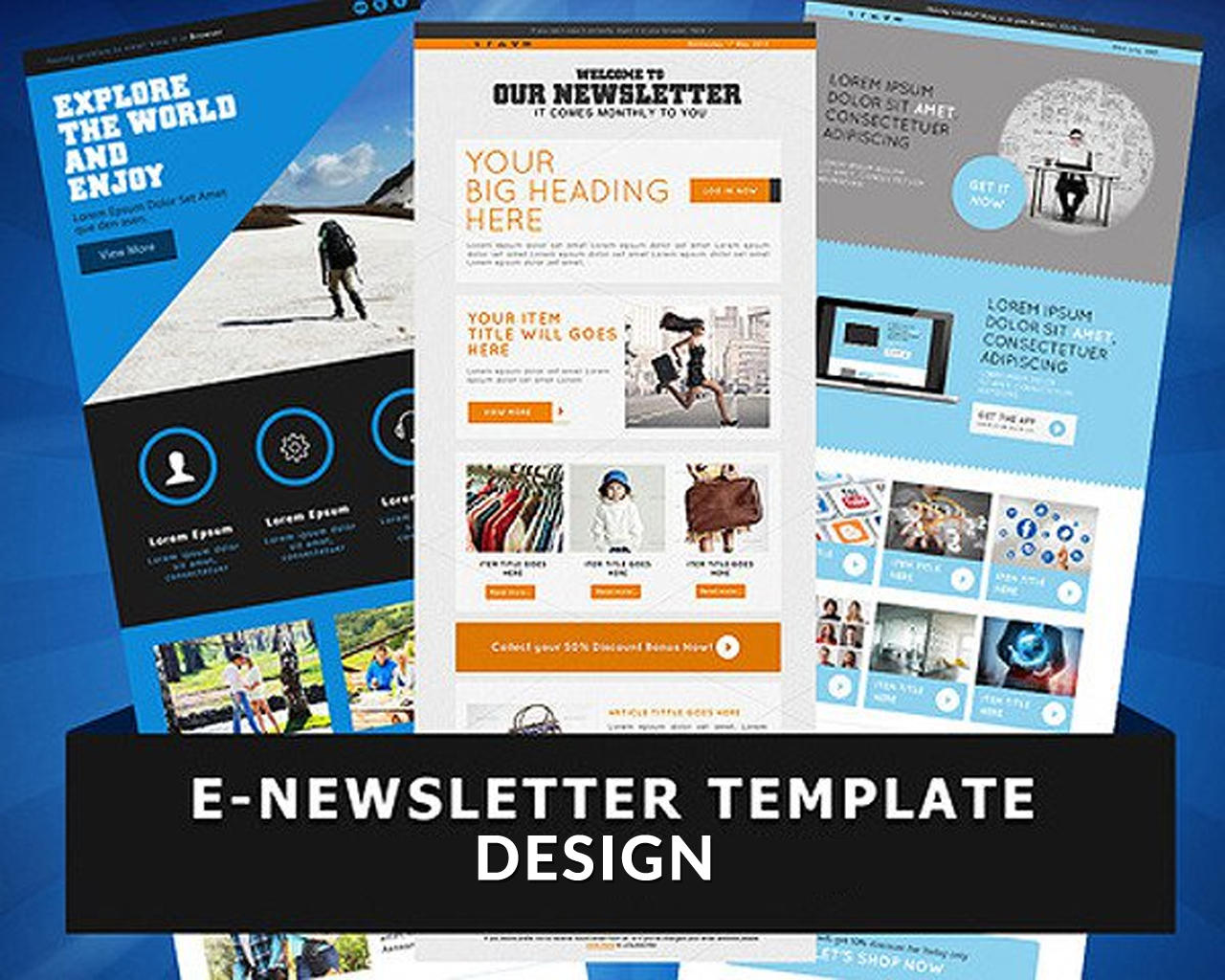 E-Newsletter Template Design by WonderArt - 98742