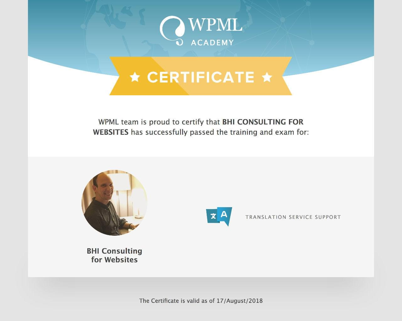 WPML Installation & Set Up Assessment by BHI-Consulting - 113296