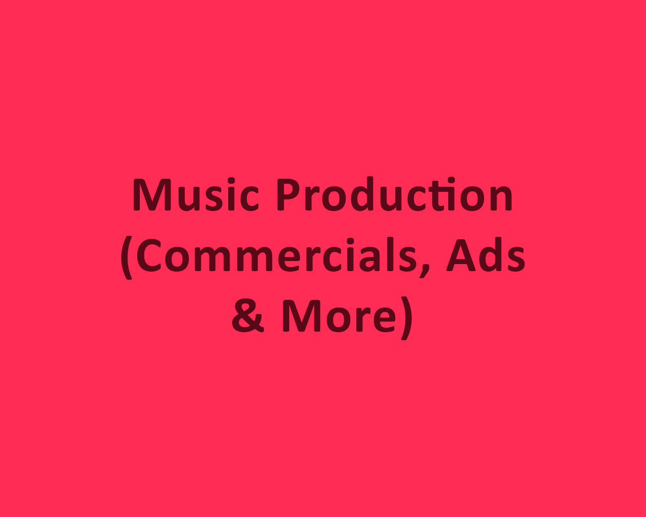 Music Production (Commercials, Ads & More) by odiusfly - 105983