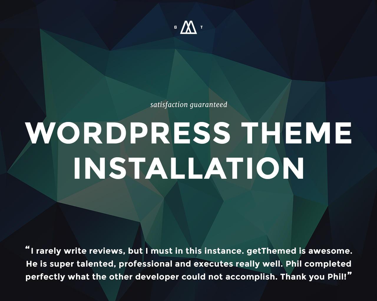 WordPress Theme Installation - Theme, Demo Content, and Plugin ...