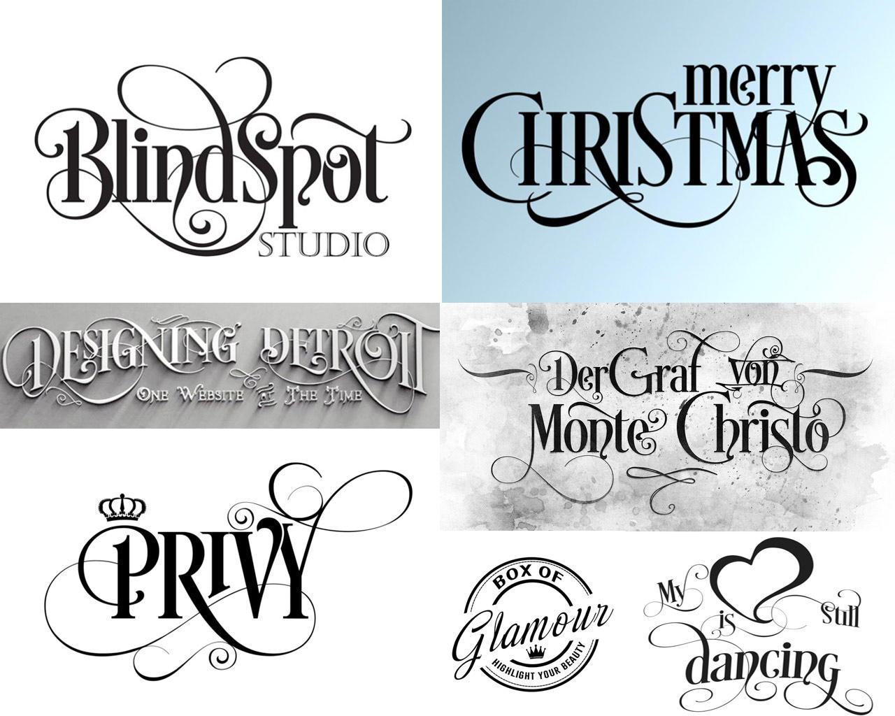 Custom calligraphy with graphic elements by scarab on