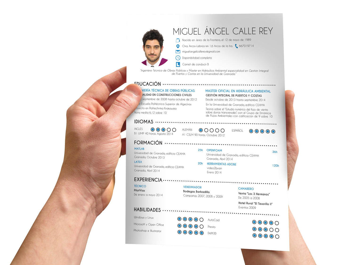 creative curriculum vitae resume design by kizzton on envato studio