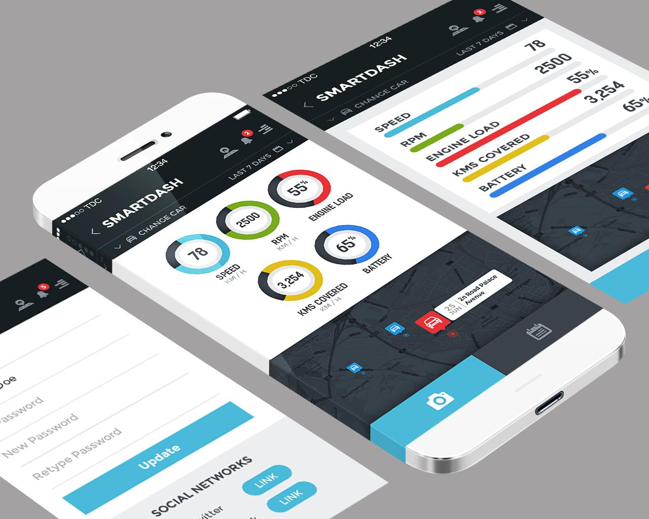 premium mobile application ui design psd ios android