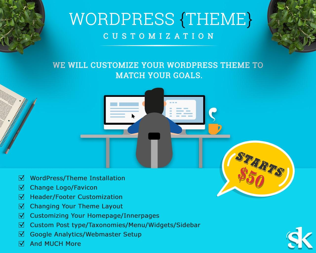 WordPress Theme Customization by SK-Web-Solutions - 112679