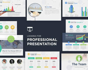 clean professional ppt design by vicasso on envato studio