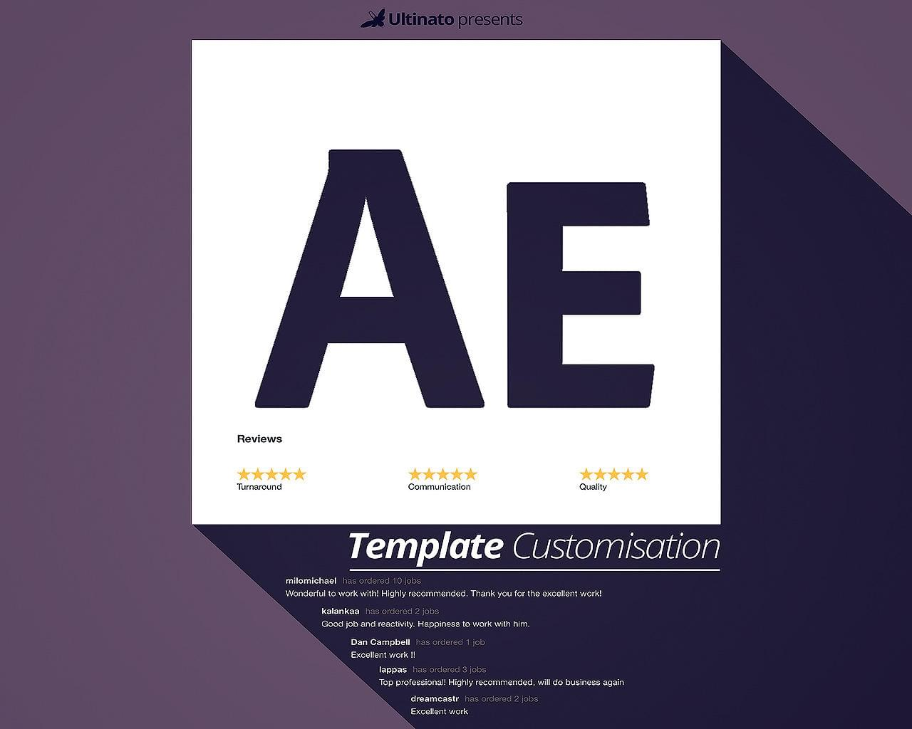 Professional After Effects Template Customisation and rendering  by Ultinato - 111983