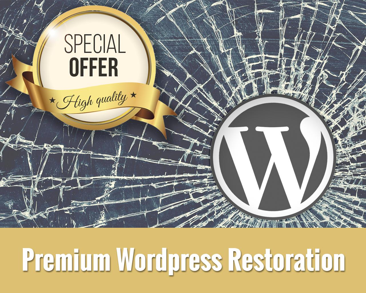 Premium Wordpress Restoration (Broken Website) by Betta - 101076
