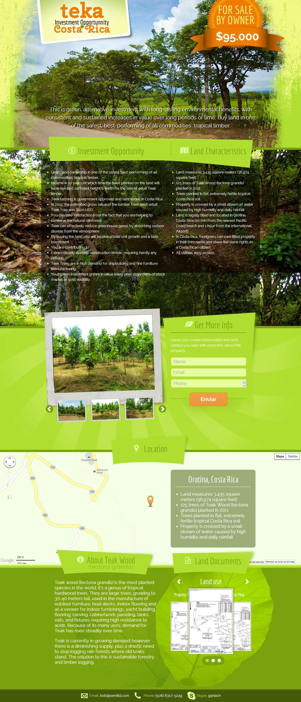 Landing Page / Single Page Website Design by hachesilva - 14843